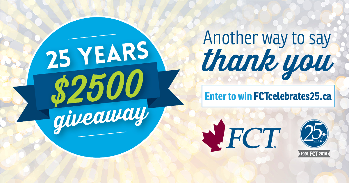 Enter to win FCT's $2500 Giveaway