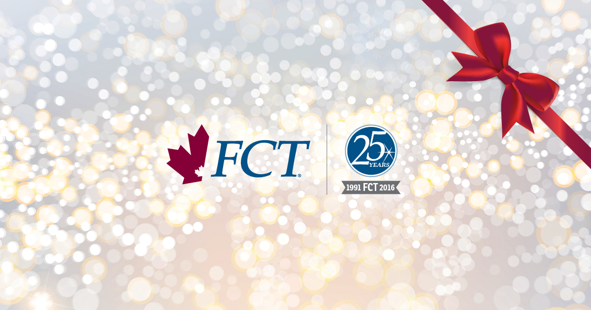 The FCT Logo with a Holiday Ribbon
