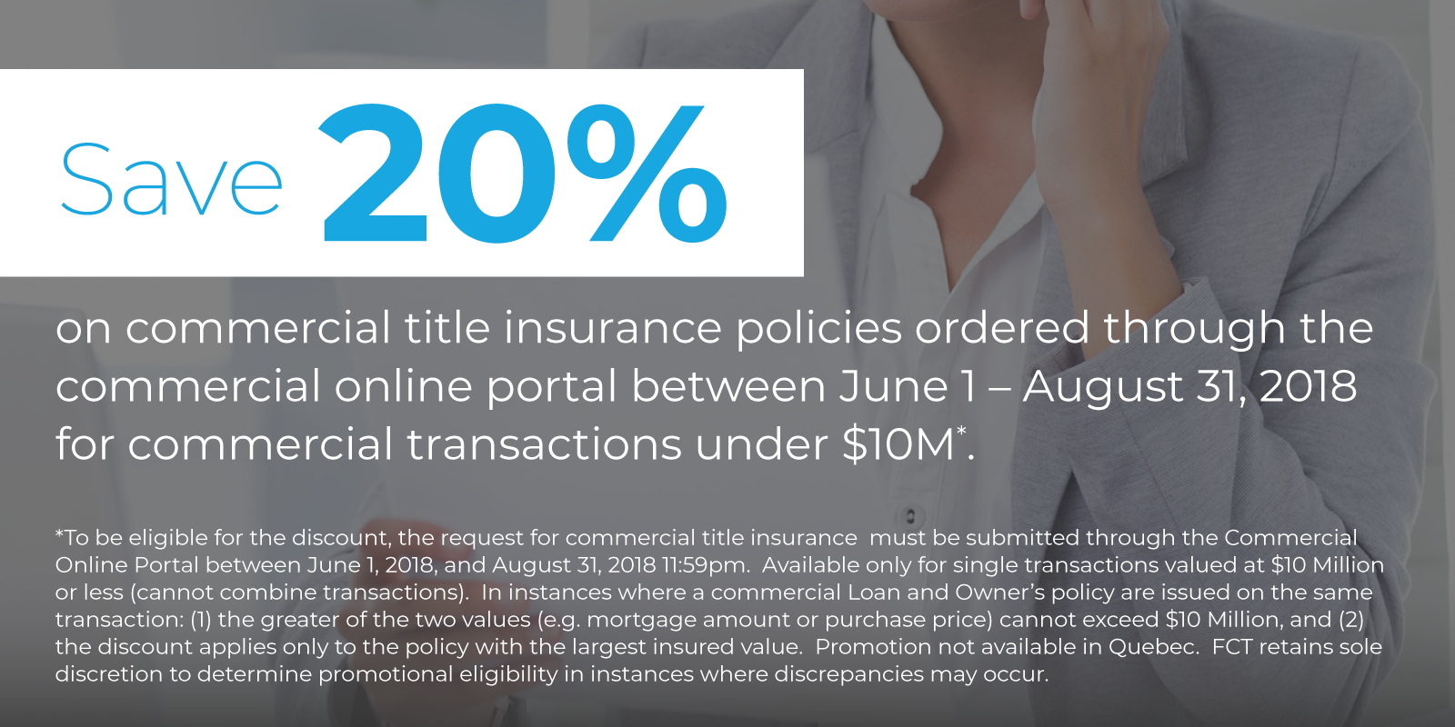Save 20% Commercial Title Insurance