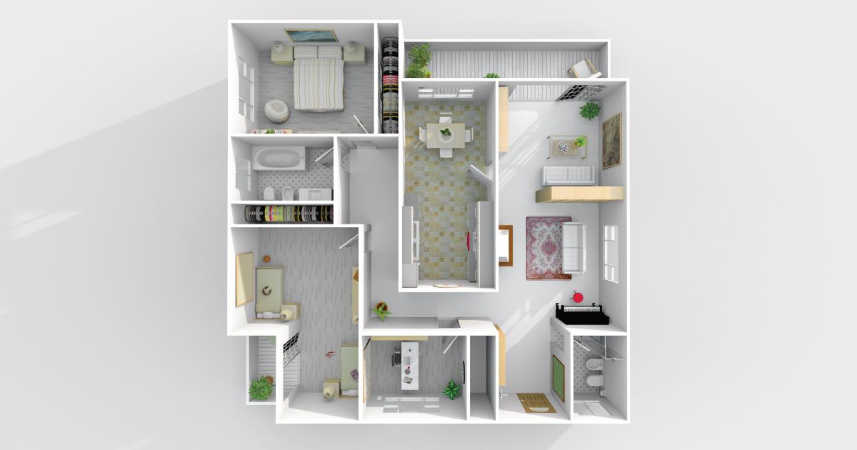 3D rendering of home