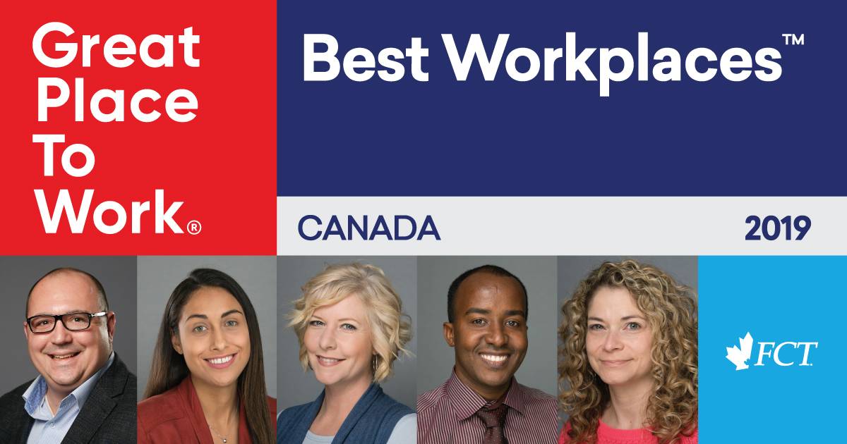 FCT is awarded as a Great place to work - best workplace 2019
