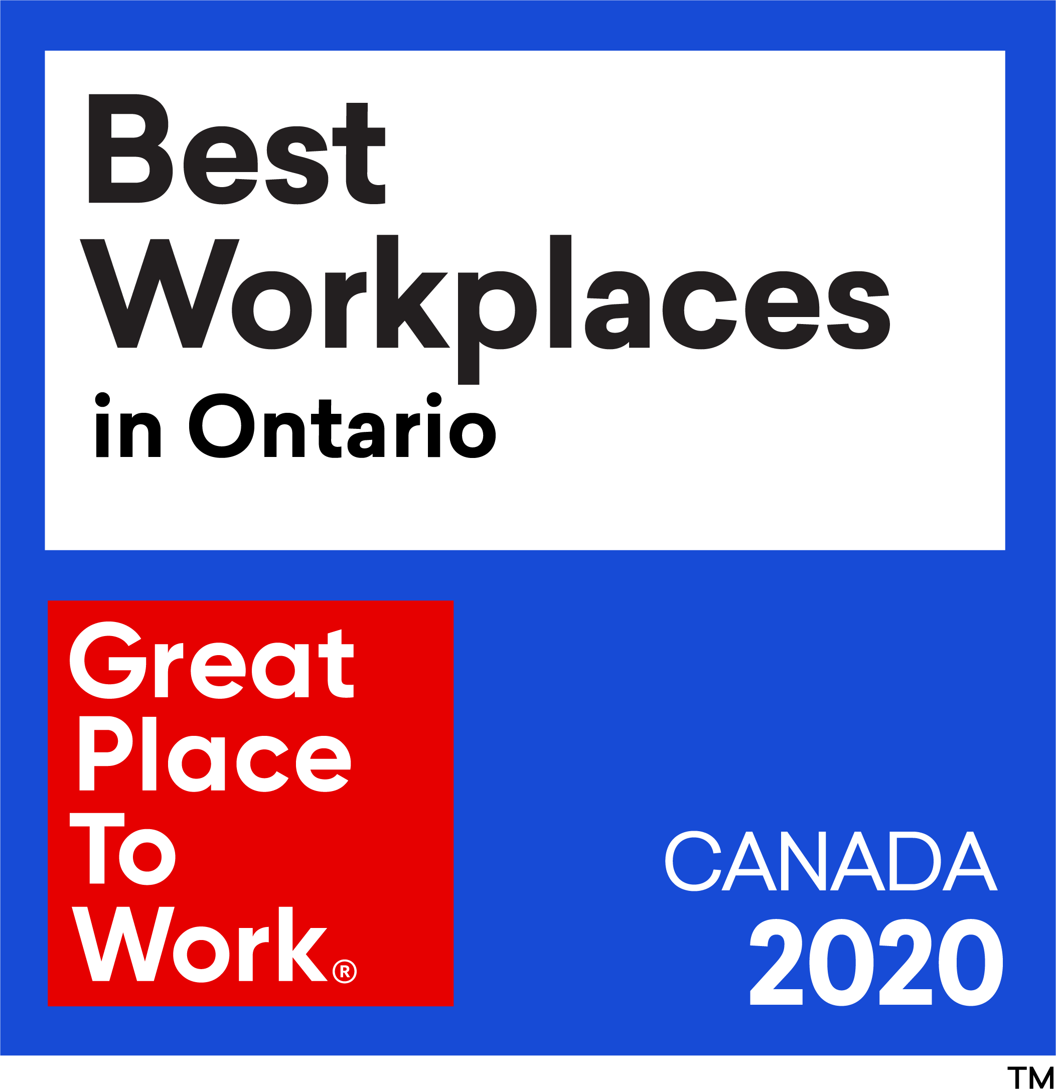 Best Workplaces in Ontario. Great Place To Work in Canada 2020.