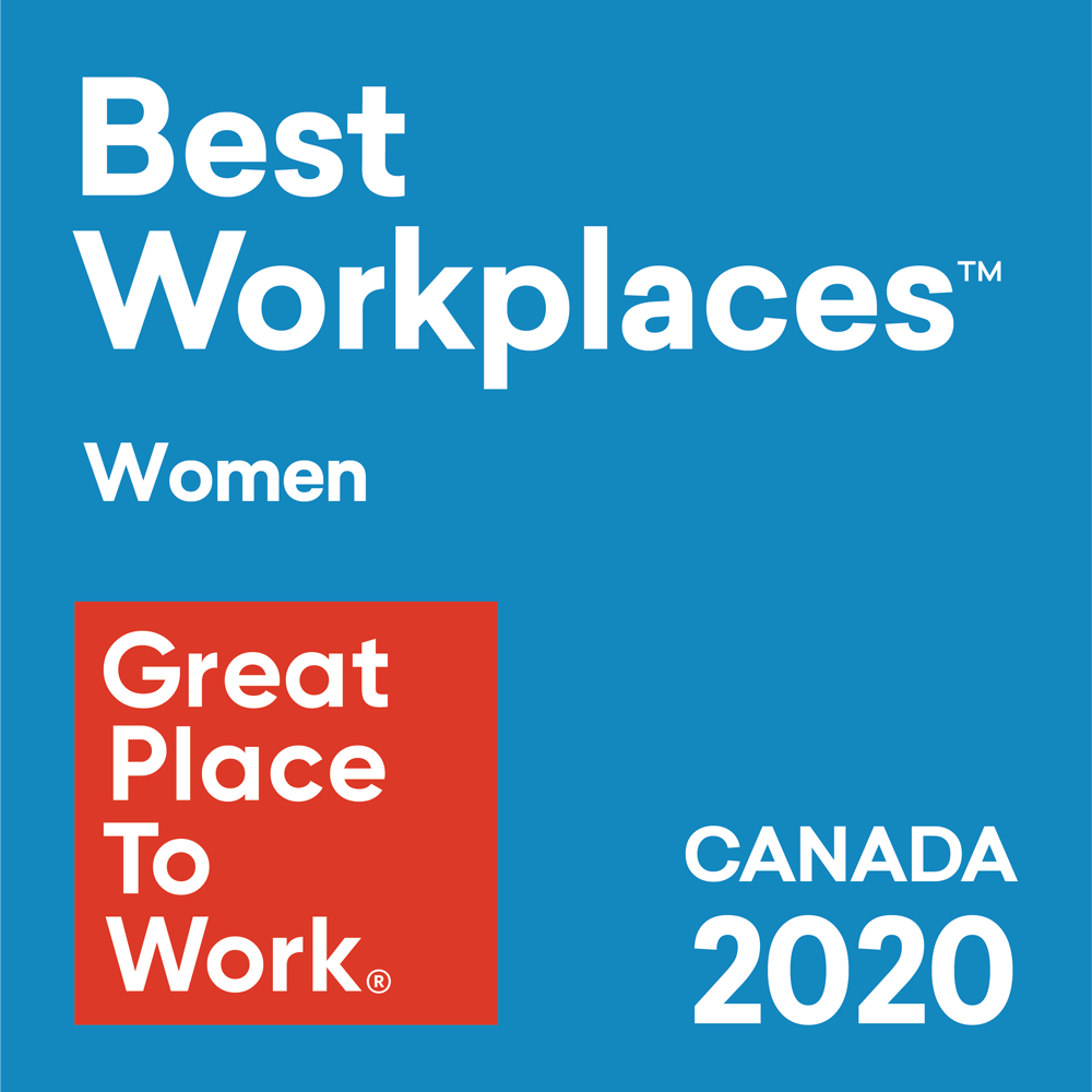 Best Workplaces for Women. Great Place To Work in Canada 2020.