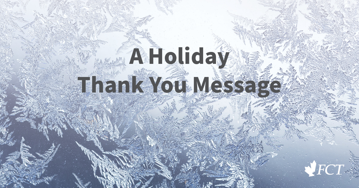 A holiday message with snowflakes