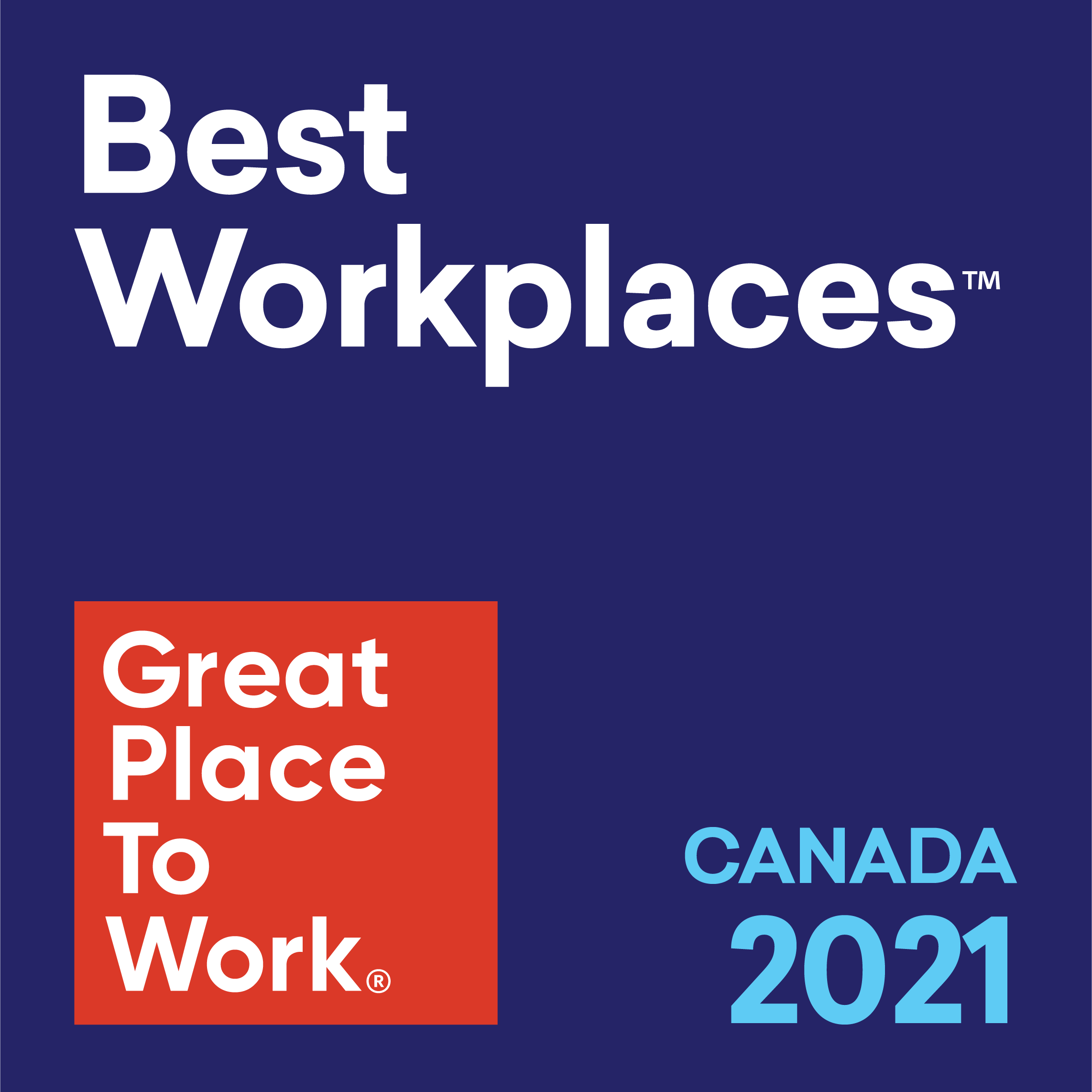 Best Workplaces, Great Place To Work, Canada 2021