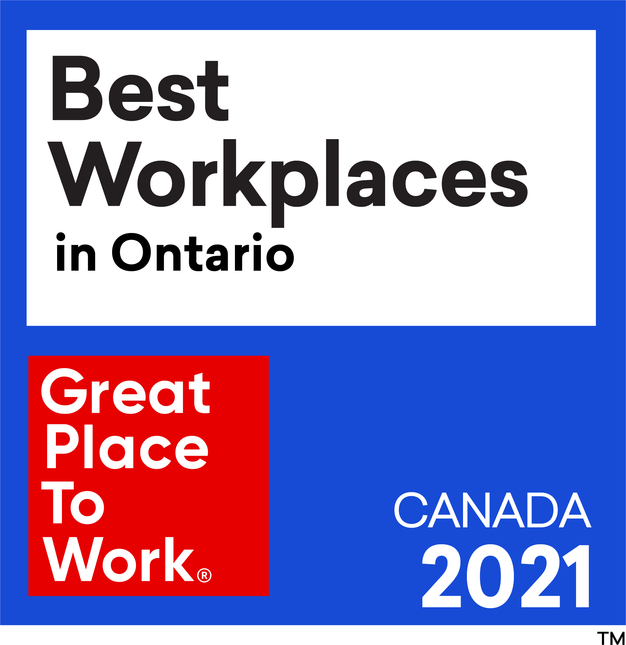 Best Workplaces in Ontario - Great Place To Work - Canada 2021