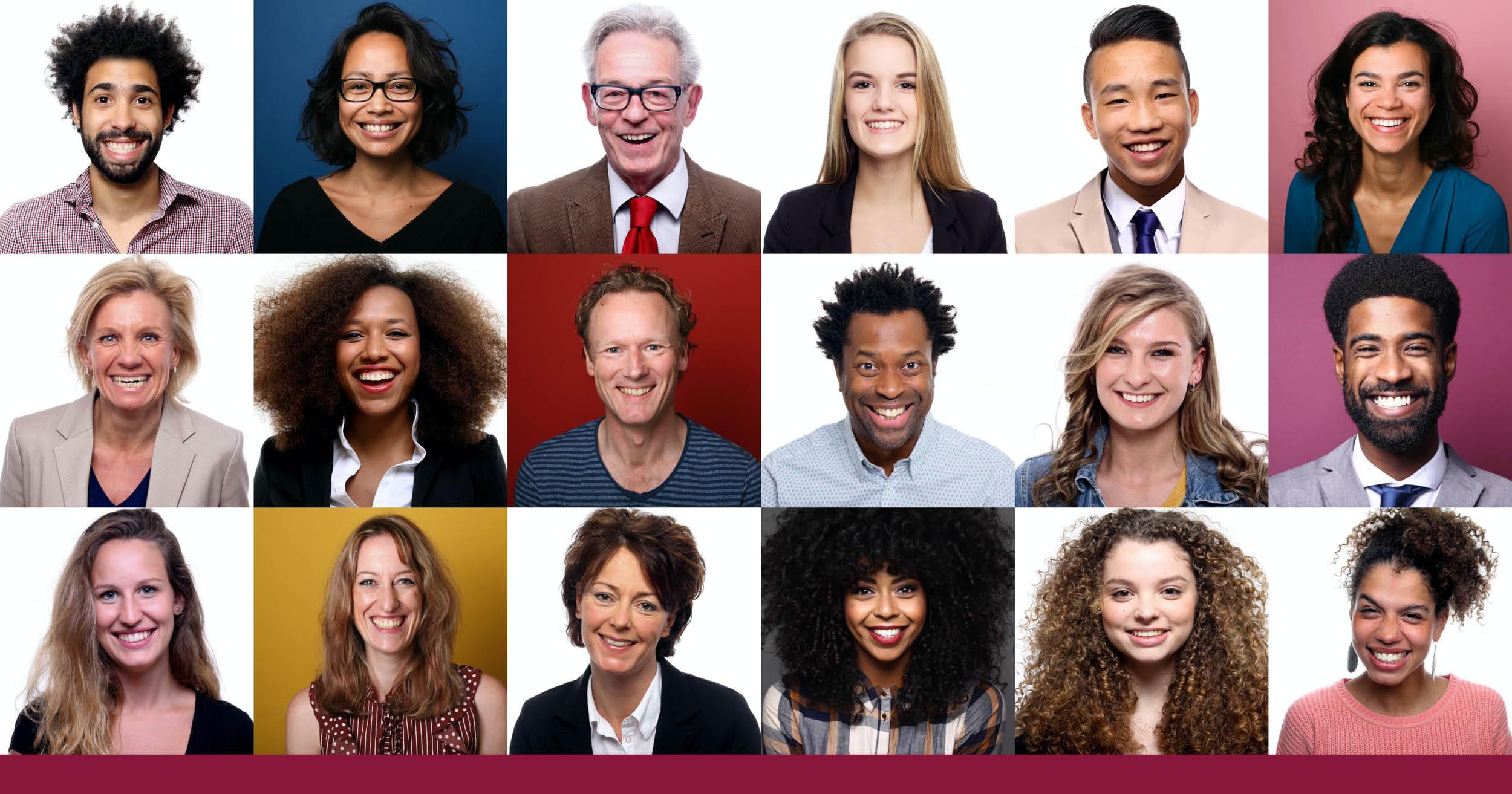 une mosaïque de visages divers
